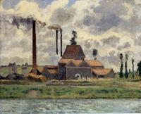 Camille Pissarro : Factory at Pontoise