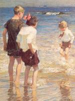 Edward Henry Potthast : Children at Shore No. 3