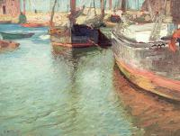Edward Henry Potthast : Harbor Scene