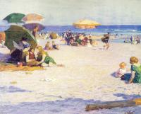 Edward Henry Potthast : Long Beach
