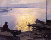 Edward Henry Potthast : Along the Mystic River