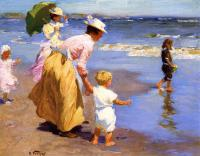 Edward Henry Potthast : At the Beach