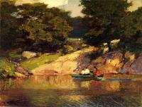 Edward Henry Potthast : Boating in Central Park