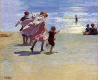 Edward Henry Potthast : Brighton Beach