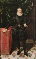 Frans The Younger Pourbus : Henry IV, King of France in Black Dress
