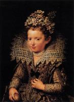 Frans The Younger Pourbus : Portrait of Eleonora of Mantua as a Child