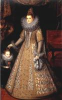 Frans The Younger Pourbus : Portrait of Isabella Clara Eugenia of Austria with her Dwarf