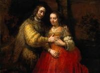 Rembrandt : Portrait of Two Figures from the Old Testament, known as 'The Jewish Bride'