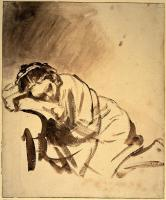 Rembrandt : Young Woman Sleeping