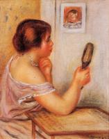 Pierre Auguste Renoir : Gabrielle Holding a Mirror with a Portrait of Coco