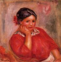 Pierre Auguste Renoir : Gabrielle in a Red Blouse