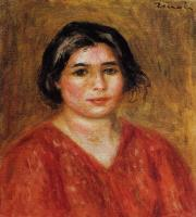 Pierre Auguste Renoir : Gabrielle in a Red Blouse II