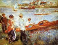 Pierre Auguste Renoir : Oarsmen at Chatou
