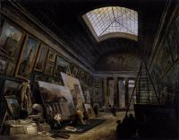 Hubert Robert : Imaginary View of the Grande Galerie in the Louvre