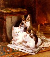 Henriette Ronner : The Happy Litter