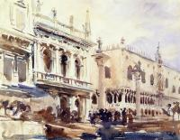 John Singer Sargent : The Piazzetta and the Doge's Palace