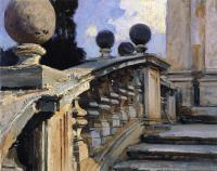 John Singer Sargent : The Steps of the Church of S. S. Domenico e Siste in Rome