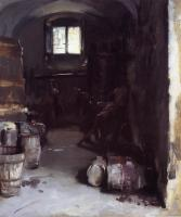 John Singer Sargent : Pressing the Grapes,Florentine Wine Cellar