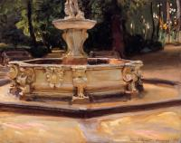 John Singer Sargent : A Marble fountain at Aranjuez, Spain
