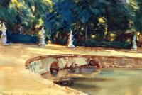 John Singer Sargent : Pool in the Garden of La Granja
