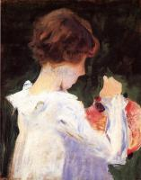 John Singer Sargent : Study of Polly Barnard for,Carnation, Lily, Lily, Rose