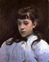 John Singer Sargent : Young Girl Wearing a White Muslin Blouse