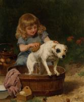 Louis Marie De Schryver : Bath Day