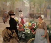 Louis Marie De Schryver : The Flower Seller