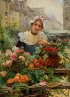 Louis Marie De Schryver : The Flower Seller II