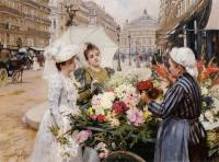 Louis Marie De Schryver : The Flower Seller III