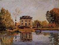Alfred Sisley : Factory in the Flood, Bougival