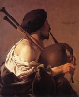 Hendrick Terbrugghen : Bagpipe Player