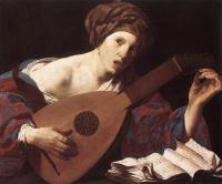 Hendrick Terbrugghen : Woman Playing the Lute