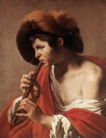 Hendrick Terbrugghen : Boy Playing Flute