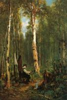 Thomas Hill : Artist at His Easel in the Woods