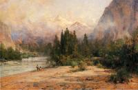 Thomas Hill : Bow River Gap at Banff on Canadian Pacific Railroad