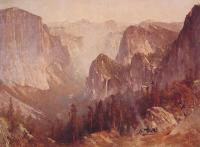 Thomas Hill : Encampment Surrounded By Mountains