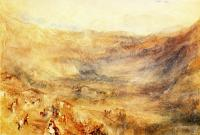 Joseph Mallord William Turner : The Brunig Pass, from Meringen
