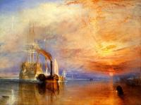 Joseph Mallord William Turner : The Fighting 'Temeraire,tugged to her last Berth to be broken up