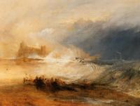 Joseph Mallord William Turner : Wreckers,Coast of Northumberland