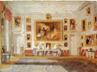 Joseph Mallord William Turner : Petworth,the Drawing room