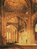 Joseph Mallord William Turner : Interior of Salisbury Cathedral
