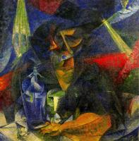 Umberto Boccioni : Woman in a Cafe