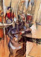 Umberto Boccioni : Interior with Two Female Figures