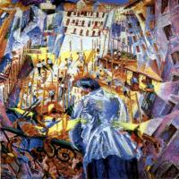 Umberto Boccioni : The Street Enters the House