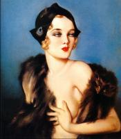 Alberto Vargas : Fur feather hat