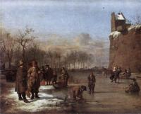 Adriaen Van De Velde : Amusement On The Ice
