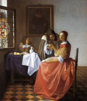 Jan Vermeer : A Lady and Two Gentlemen