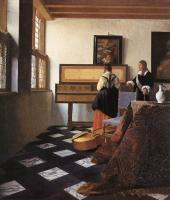 Jan Vermeer : A Lady at the Virginals with a Gentleman