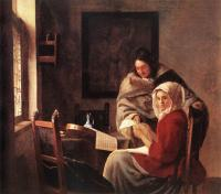 Jan Vermeer : Girl Interrupted at Her Music
